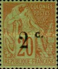 [French Colonies Postage Stamp Surcharged, type I]