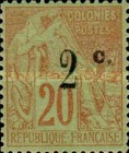 [French Colonies Postage Stamp Surcharged, type I1]