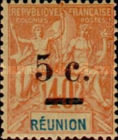 [Stamps of 1892 Surcharged, type J]