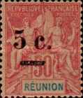 [Stamps of 1892 Surcharged, type J1]