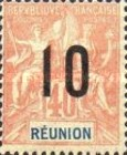 [Issues of 1892-1901 Surcharged - Distance between 0 & 5 = 1½ mm; Distance between 1 & 0 = 2½, type N5]