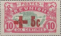 [Red Cross - Stamp of 1907 Surcharged, type P]