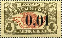 [Stamp of 1907 Surchared, type S]