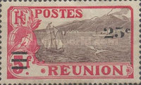[Stamps of 1907-1917 Surcharged, type T]