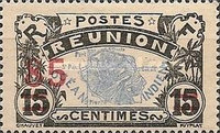 [Stamps of 1907-1917 Surcharged, type T4]