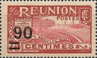 [Issue of 1922 & Not Issued Stamps Surcharged, type U]