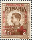 [King Michael of Romania, Prisoner of War Stamps - Postal Tax Stamps of 1943-1944 Overprinted, type D2]