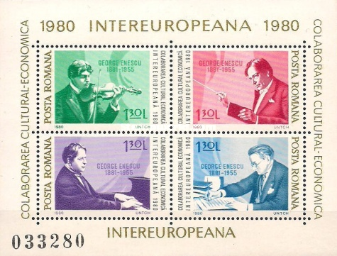 [INTEREUROPEANA - Famous People - Composers - George Enescu, 1881-1955, type ]