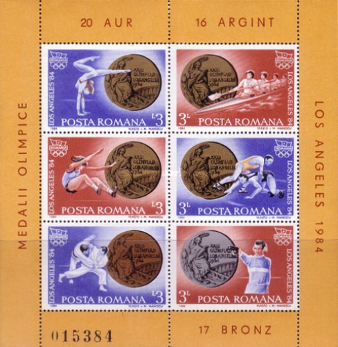 [Romanian Medal Winners at the Los Angeles Olympic Games, type ]