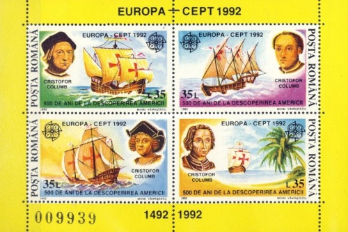 [EUROPA Stamps - The 500th Anniversary of the Discovery of America, type ]