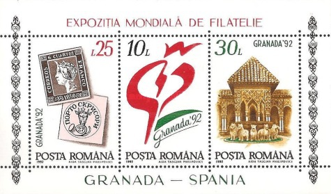 [International Stamp Exhibition GRANADA `92, type ]