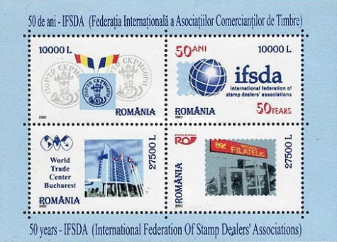 [The 50th Anniversary of International Federation of Stamp Dealers - IFSDA, type ]