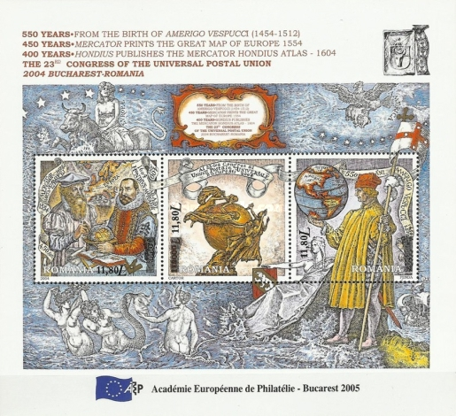 [Meeting of the European Philately Academy - Postal Union Congress Stamps of 2004 Overprinted at Bottom, type ]