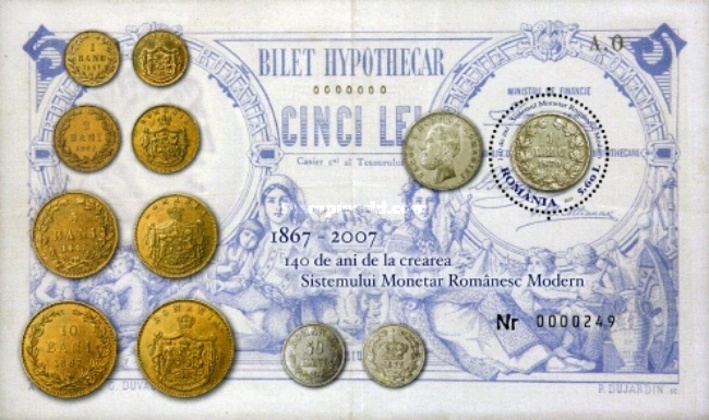 [The 140th Anniversary of the Modern Romanian Monetary System, type ]