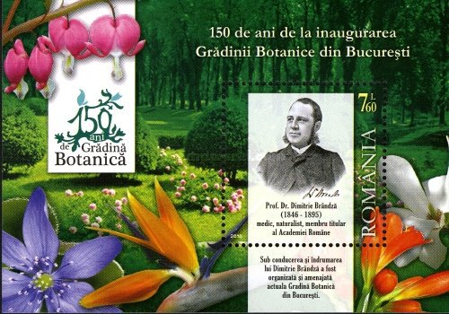 [The 150th Anniversary of the Bucharest Botanical Garden, type ]