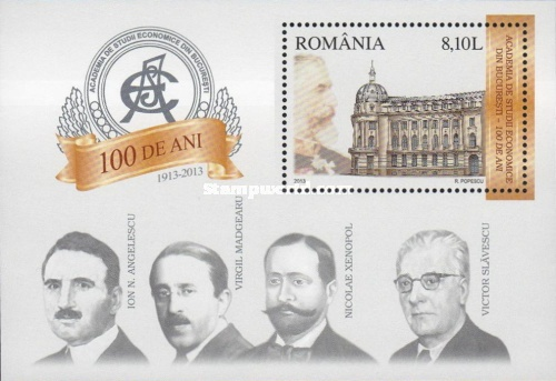 [The 100th Anniversary of the University of Economic Studies, Bucarest, type ]