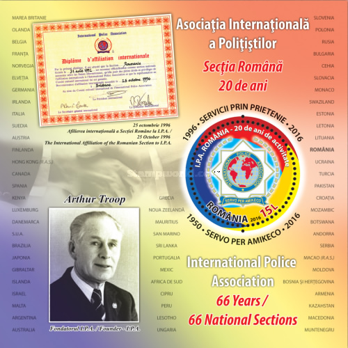 [The 20th Anniversary of the Romanian Section of the I.P.A. - International Police Association, type ]