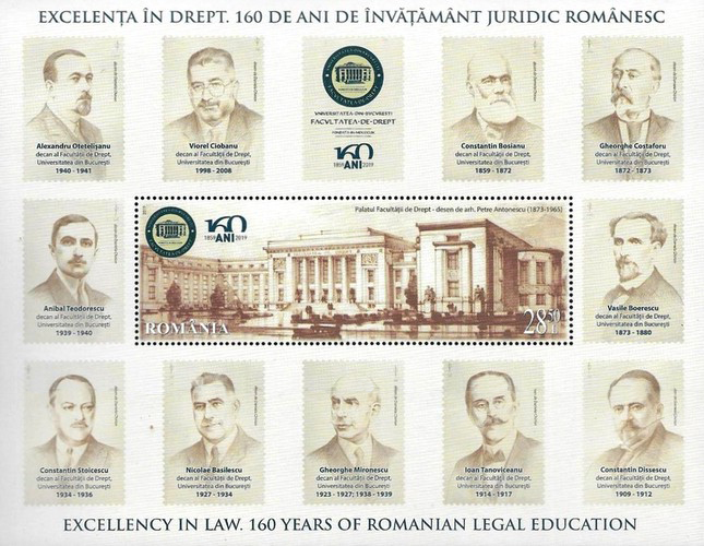 [Excellence in Law - The 160th Anniversary of Romanian Legal Education, type ]
