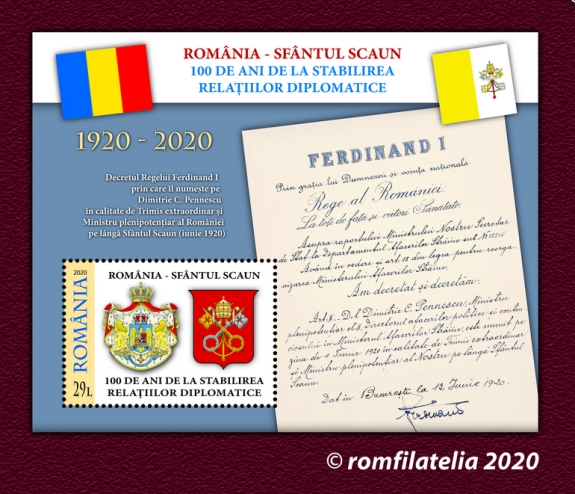 [The 100th Anniversary of Diplomatic Relations with the Vatican, type ]