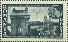 [The 50th Anniversary of the Completion of the Danube Bridge in Cerna Voda, type AIU]