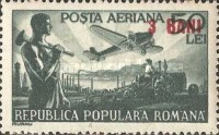 [Airmail - Science and Transportation Stamps of 1948 Surcharged, type AST1]