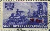 [Year Plan Stamps of 1950 Surcharged, type AUL1]