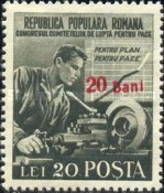 [Peace Congress Stamp of 1950 Surcharged, type AVN1]