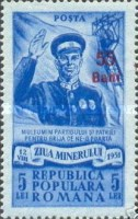 [Miners` Day Stamp of  Surcharged, type AWX1]
