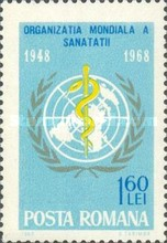 [The 20th Anniversary of the World Health Organization, type CXM]