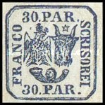 [Principality of Romania - Plateprint, type D9]