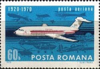 [The 50th Anniversary of the Civil Air Transport in Romania, type DDW]