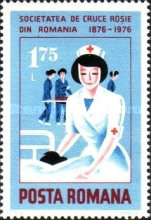[The 100th Anniversary of the Romanian Red Cross, type DXE]
