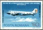 [The 50th Anniversary of the Romanian National Airline, type DXM]