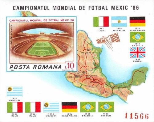 [Football World Cup - Mexico 1986, type FYY]