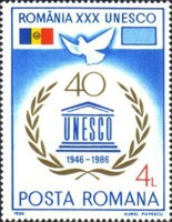 [The 40th Anniversary of the UNESCO, type GAK]