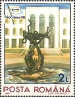 [International Stamp Fair RICCIONE `90, type GOF]
