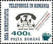 [New Telephone Numbers - Stamp of 1992 Surcharged, type GXN3]