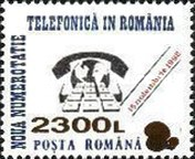 [New Telephone Numbers - Stamp of 1992 Surcharged, type GXN4]
