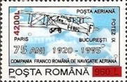 [The 75th Anniversary of Aviation Agreements - Aviation Cooperation  Stamp of 1995 Surcharged, type HGI2]
