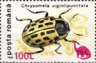 [Insects - Beetles Stamp of 1991 Surcharged and Overprinted with Prehistoric Animals, type HKV1]