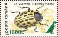 [Insects - Beetles Stamp of 1991 Surcharged and Overprinted with Prehistoric Animals, type HKV5]