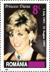 [The 20th Anniversary of the Death of Princess Diana, 1961-1997 - Stamp of 1999 Surcharged, type HTJ1]