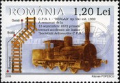 [The 150th Anniversary of the Opening of the First Railroad in Romania Oravita-Bazias - Steam Locomotives, type ITC]
