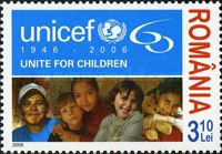 [The 60th Anniversary of the United Nations Children`s Fund - UNICEF, type IUT]