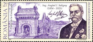 [Day of the Stamp - The 155th Anniversary of the Birth of Anghel Saligny, 1854-1925, type JDA]