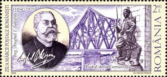 [Day of the Stamp - The 155th Anniversary of the Birth of Anghel Saligny, 1854-1925, type JDB]