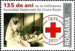 [The 135th Anniversary of the Romanian Red Cross, type JJM]