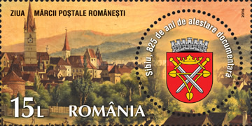 [Stamp Day - The 825th Anniversary of the City of Sibiu, type KES]