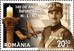 [The 140th Anniversary of the National Grand Lodge of Romania, type LBG]