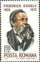 [The 150th Anniversary of the Birth of Friedrich Engels, 1820-1895, Typ XEY]